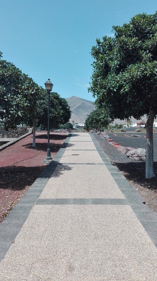 Ścieżki Playa Blanca obrazy royalty free