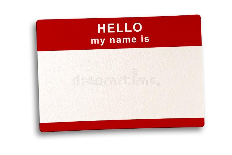 ścieżki TARGET1072_1_ imię etykietka zdjęcie stock