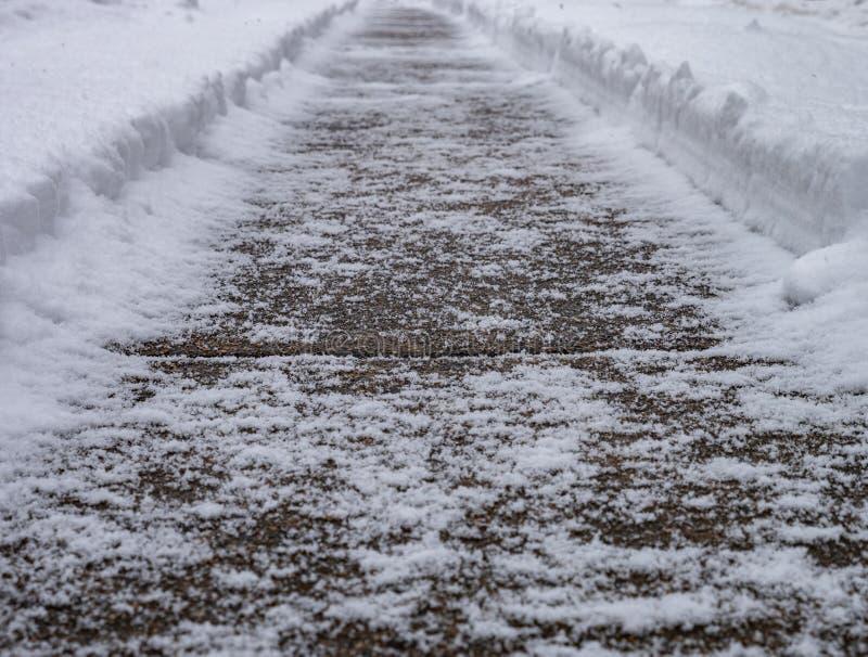 ścieżki zima s zdjęcie royalty free