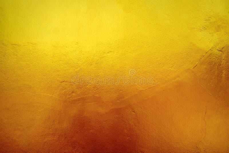 Ścienna nawierzchniowa żółtego złota bruzda zdjęcia stock