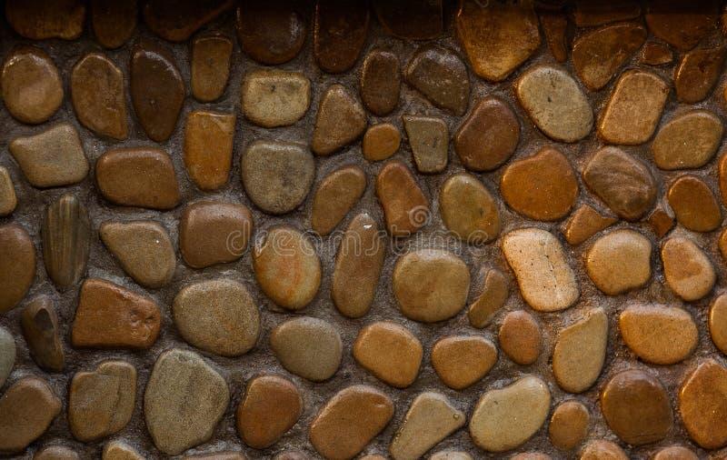 Ścienna round kamienia skały tekstura i bezszwowy tło obrazy royalty free
