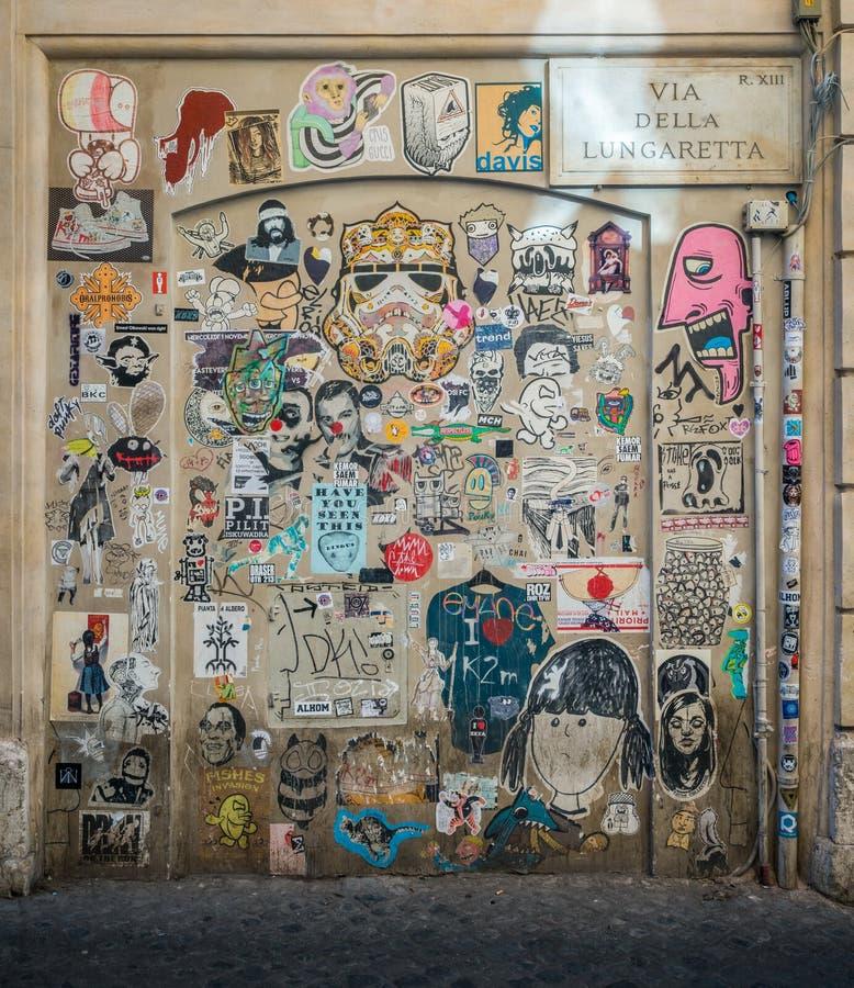 Ścienna sztuka w Trastevere, Rzym zdjęcia stock