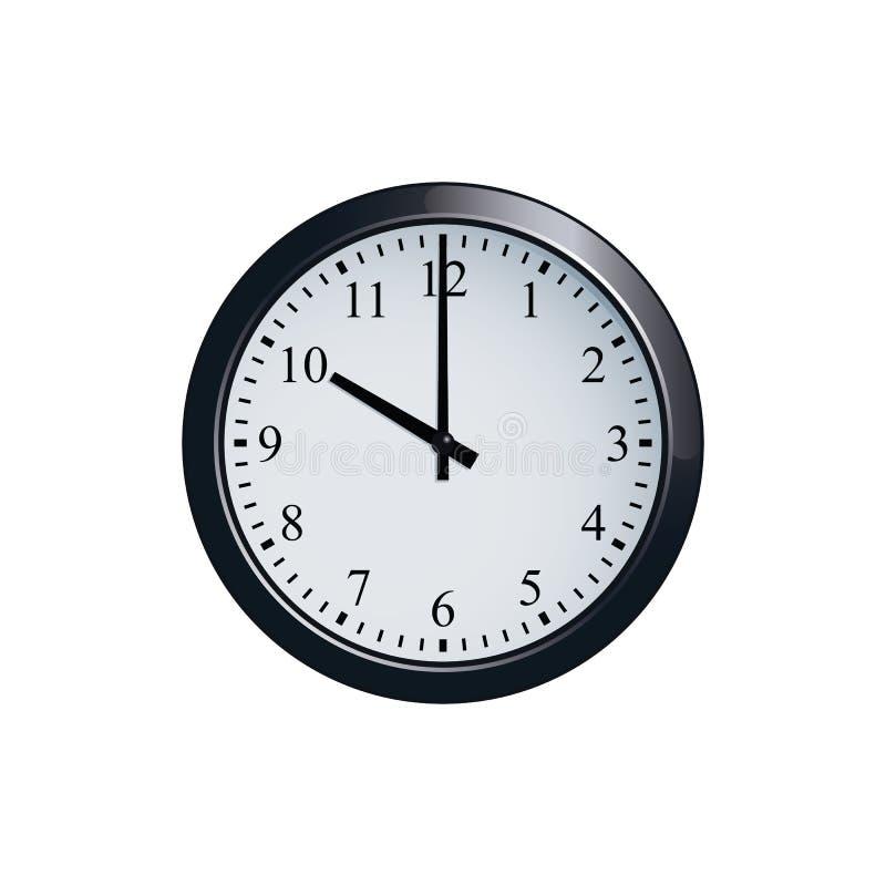 Ściennego zegaru set przy 10 o ` zegarem royalty ilustracja