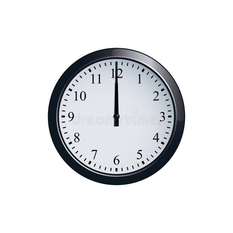 Ściennego zegaru set przy 12 o ` zegarem ilustracji