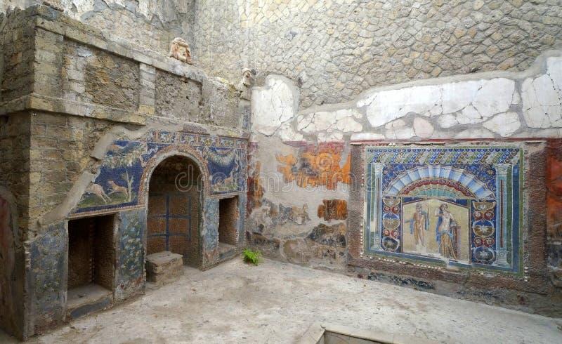Ścienni obrazy w Herculaneum domu obrazy stock