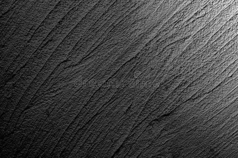 Ścienny grunge zmroku lub czerni popielaty beton z lekkim tłem Tło Brudny, odkurza czerni ściany betonu blackboard spla i tekstur fotografia stock