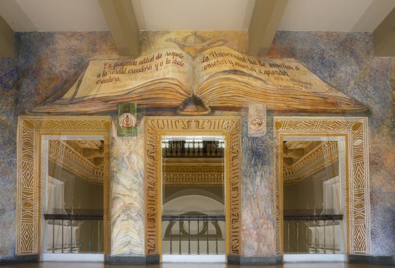 Ścienny obraz wśrodku Roosevelt Dzwonkowy wierza obraz stock
