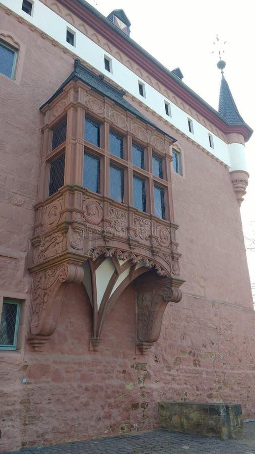 Ścienny szczegół Burgau kasztel, DÃ ¼ ren, Niemcy fotografia royalty free