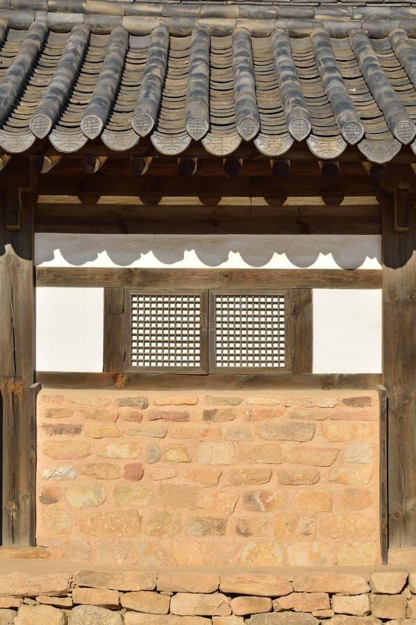 Ścienny szczegół Koreański Tradycyjny dom obraz royalty free