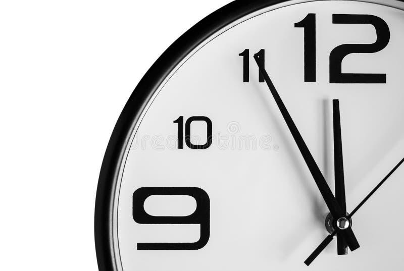 Ścienny zegar odizolowywający na białym tle zdjęcia stock
