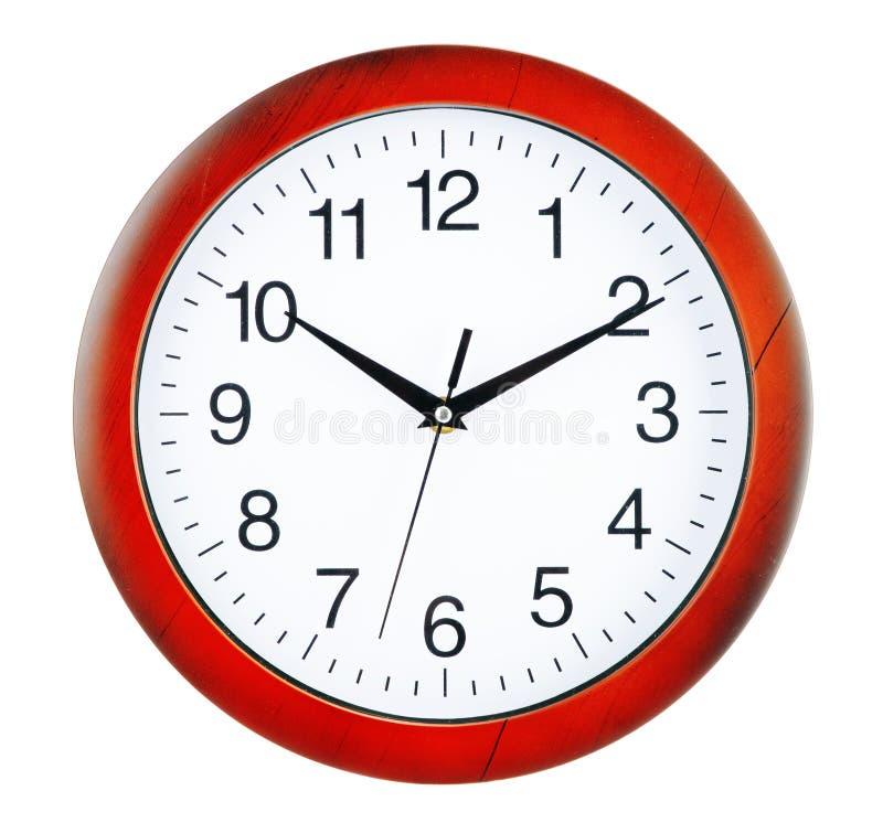 Ścienny zegar odizolowywający na białym tle obrazy royalty free