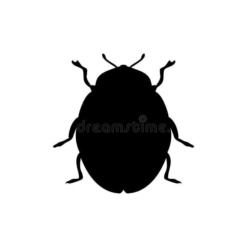 Ściga insekta czerni sylwetki zwierzę royalty ilustracja