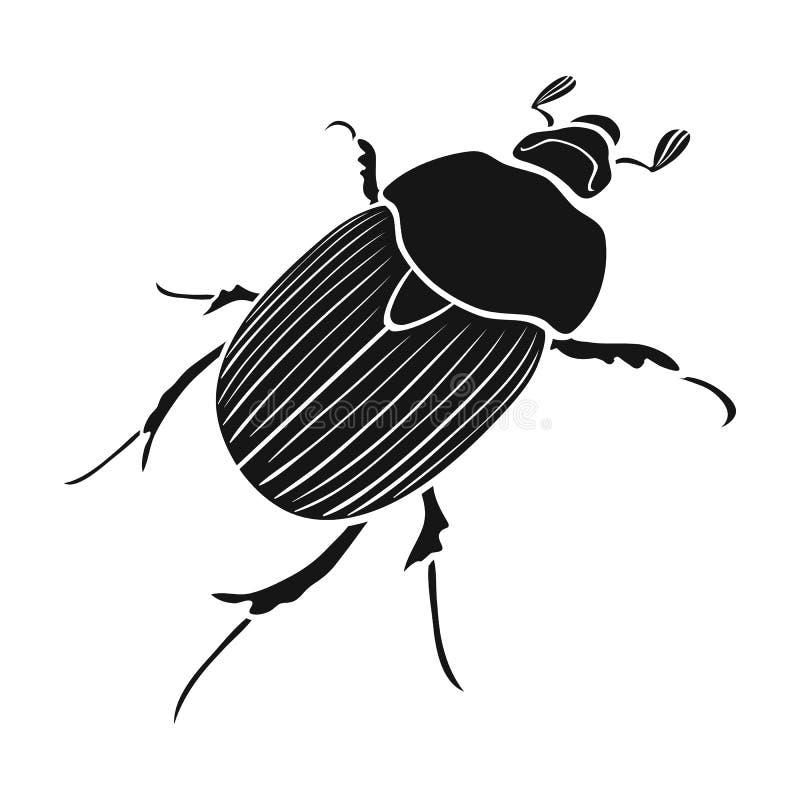 Ściga jest chrząszczowatym insektem Członkonogi insekty, ścigi pojedyncza ikona w czerń stylu symbolu wektorowym zapasie isometri ilustracja wektor