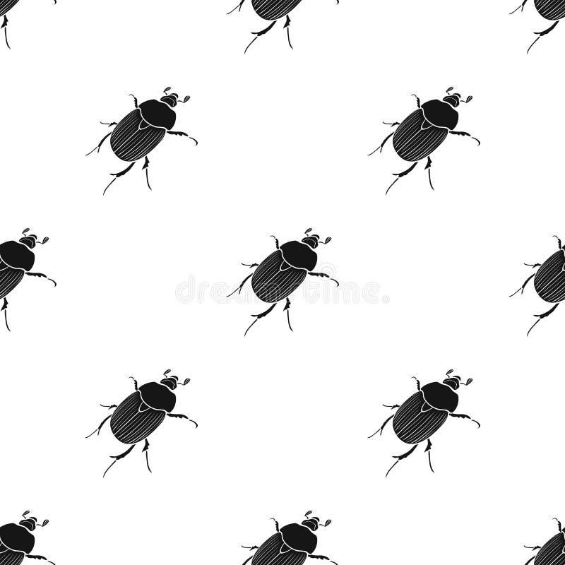 Ściga jest chrząszczowatym insektem Członkonogi insekty, ścigi pojedyncza ikona w czerń stylu symbolu wektorowym zapasie isometri ilustracji