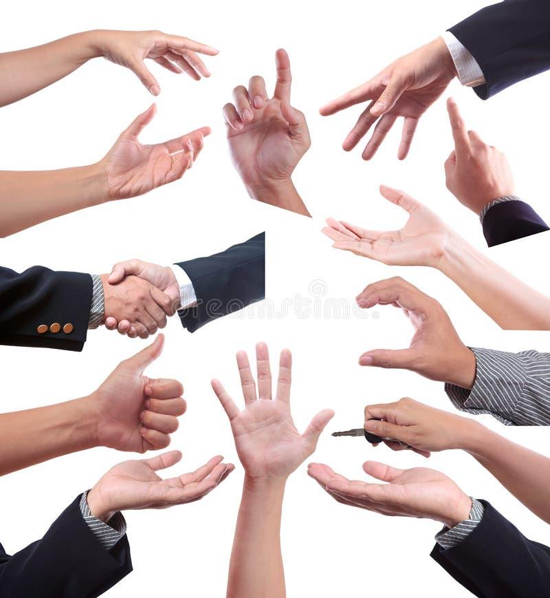 ścinku gestów ręki ścieżki set zdjęcie stock