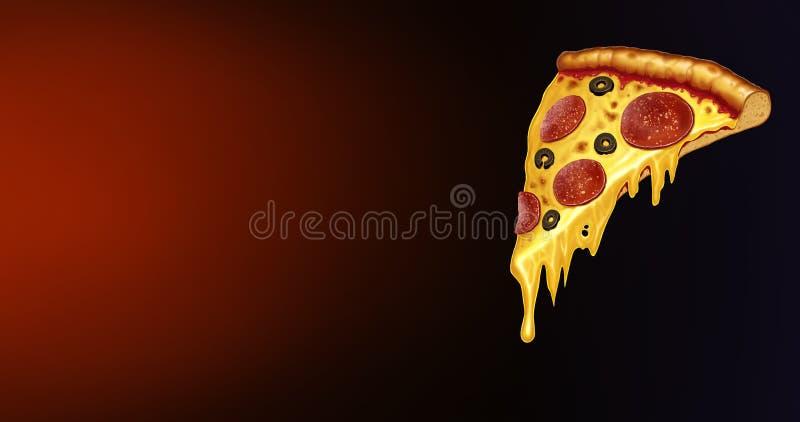 ścinku podobieństwo ścieżki odseparowana pizza pepperoni Pepperoni pizza na czarnym czerwonym tle ilustracja wektor