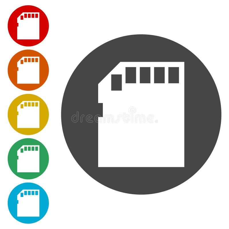 Ścisła karty pamięci ikona ilustracji