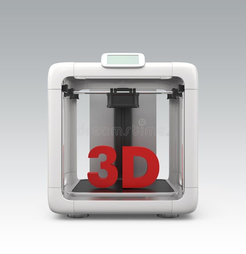 Ścisła ogłoszenia towarzyskiego 3D drukarka na gradientowym tle royalty ilustracja