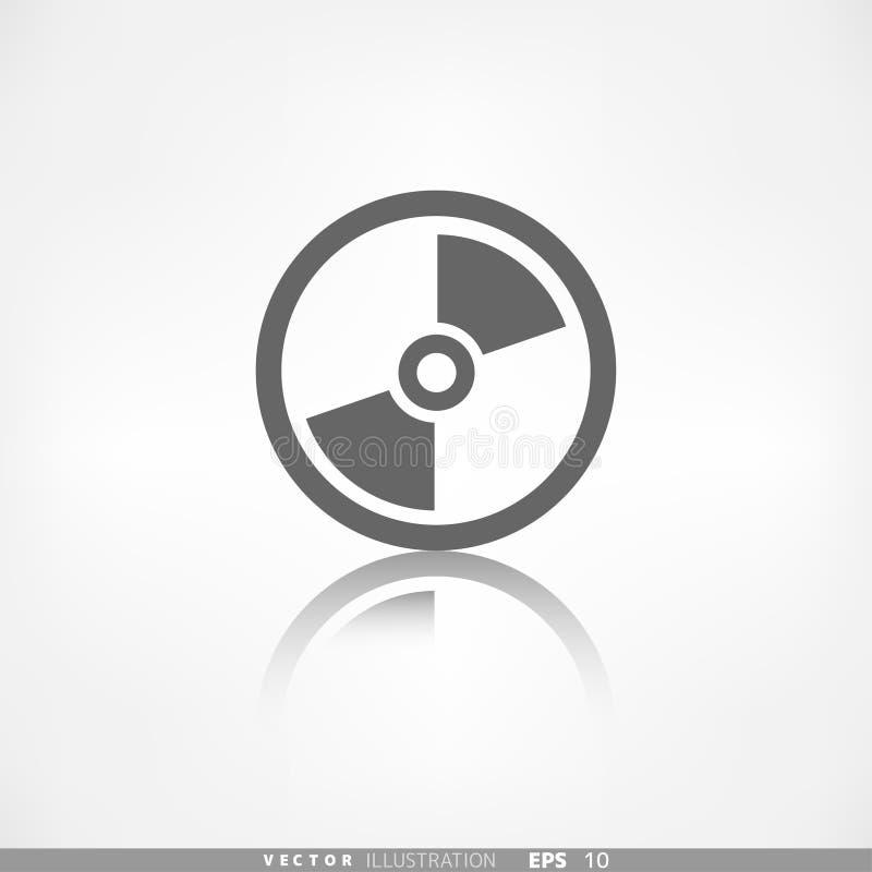 Ścisłego dyska ikona Cd lub dvd symbol royalty ilustracja