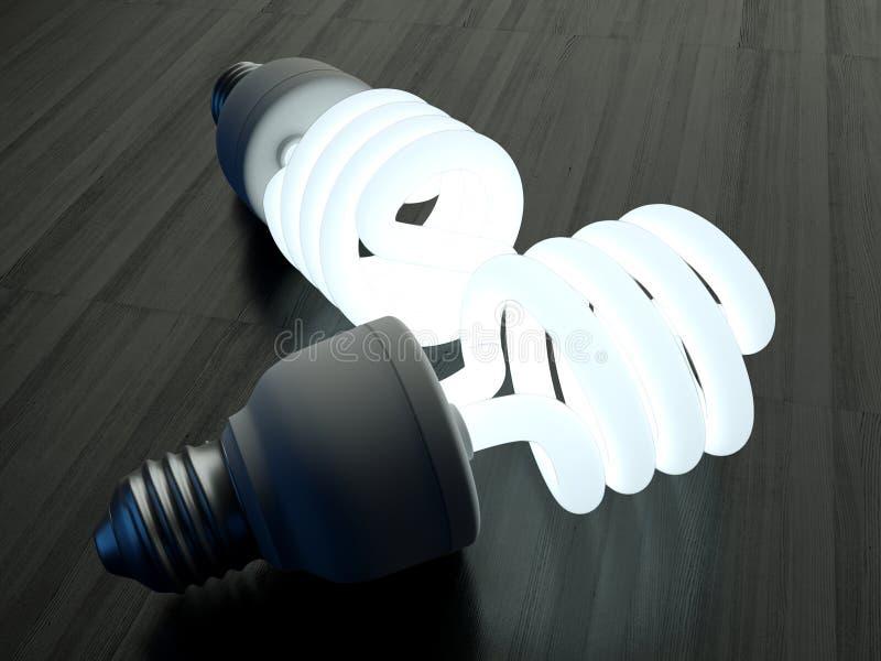 Ścisły Fluorescencyjny Lightbulb fotografia royalty free