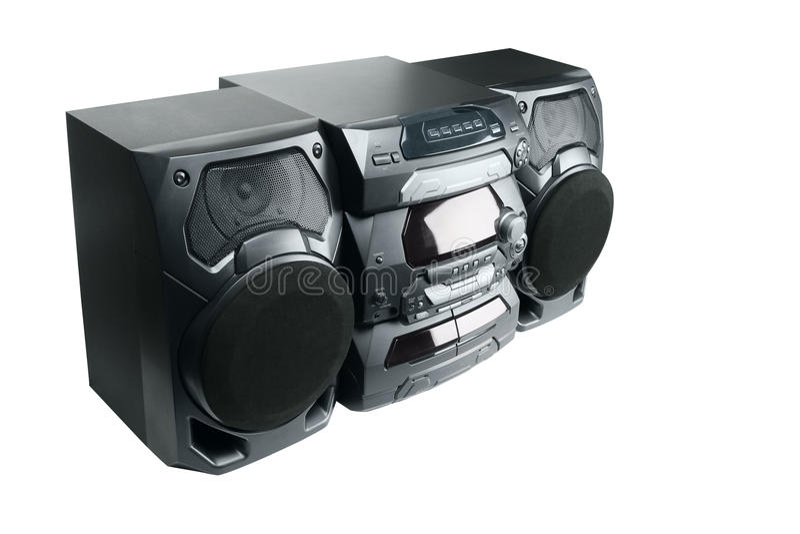 ścisły stereo system fotografia stock