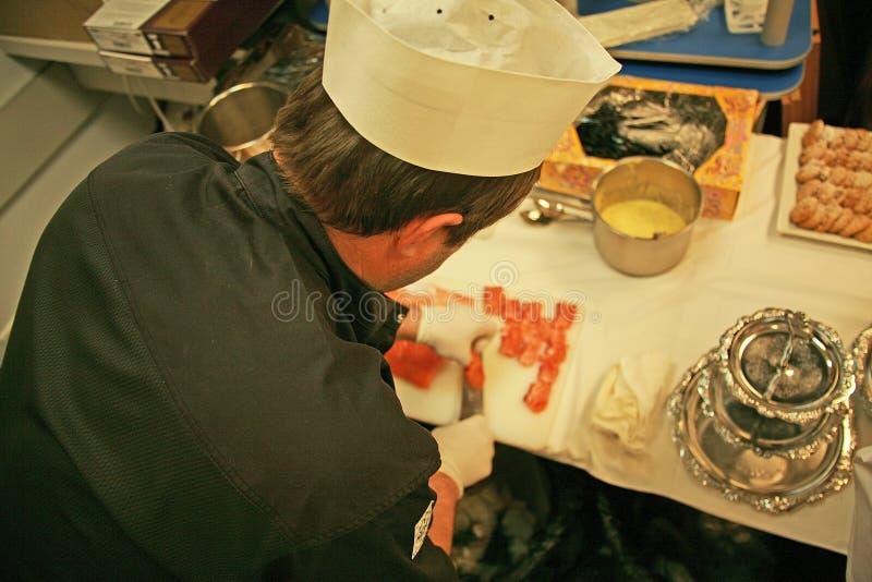 Ścisły szef kuchni zdjęcie royalty free