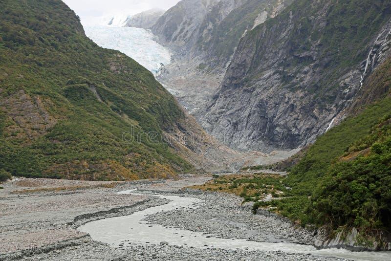 Ślad Franz Josef lodowiec zdjęcia stock