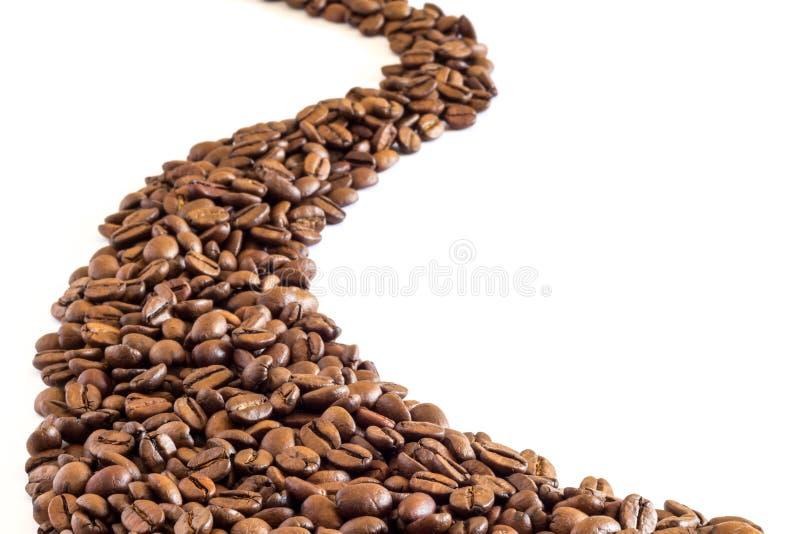 Ślad kawowe fasole obraz royalty free