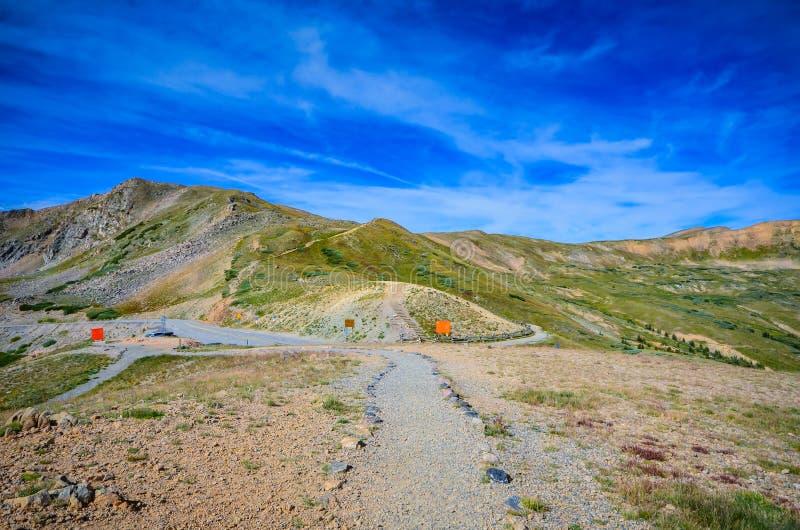 Ślad - Loveland przepustka - Kolorado obraz stock