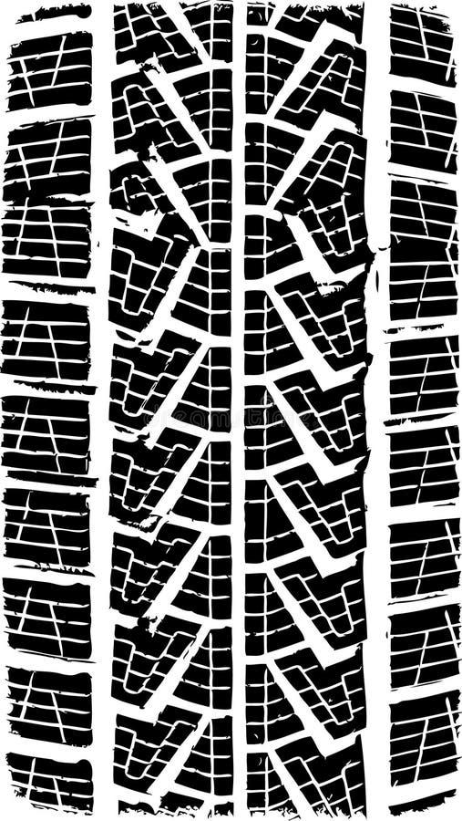 ślad opon ilustracja wektor