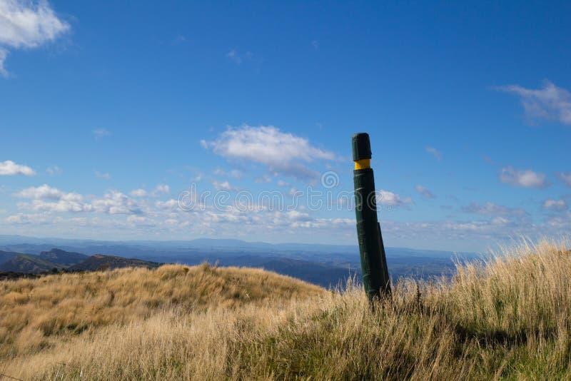 Ślad przez wzgórze wierzchołki w Maungaharuru pasmie, Hawkes zatoka, Nowy Z zdjęcie royalty free