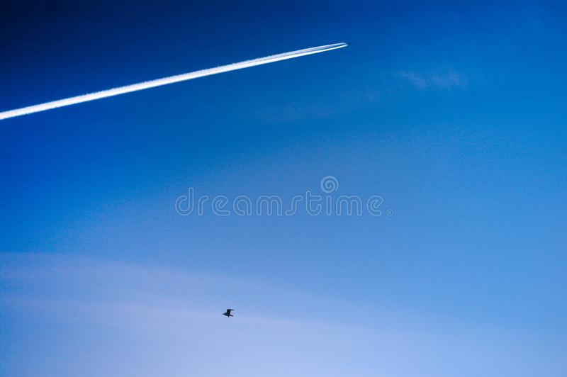 Ślad samolot fotografia stock