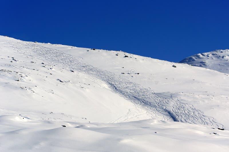 Ślad w śniegu zdjęcia stock