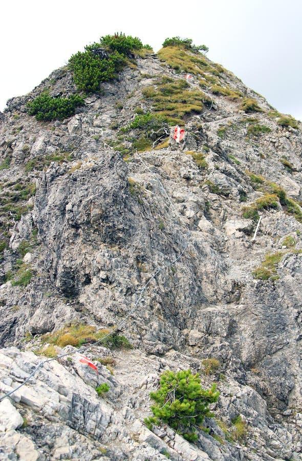 Ślad w Alps fotografia royalty free