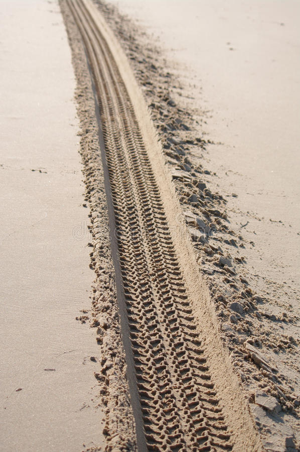 Ślada Na piasku fotografia stock
