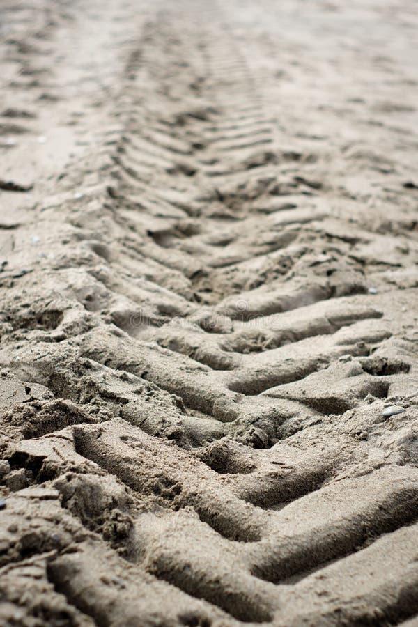 Ślada na plaży zdjęcie stock