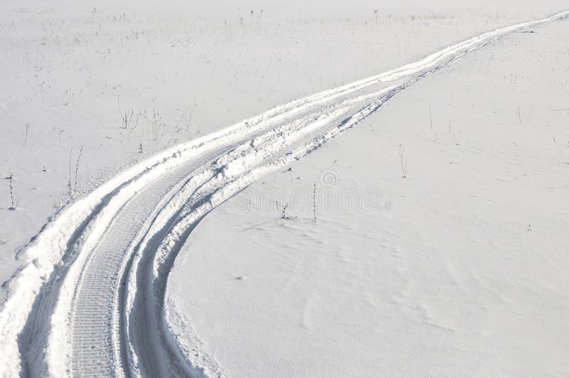 Ślada w śniegu fotografia stock