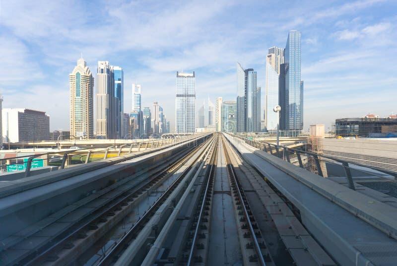 Ślada w mieście, Dubaj zdjęcie royalty free