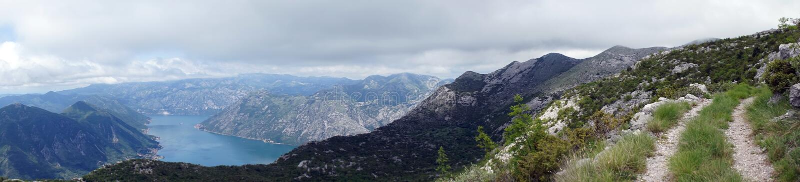 Śladu i Kotor zatoka obraz royalty free