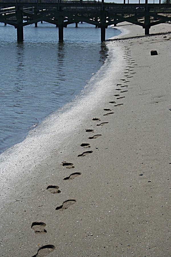 ślady stóp morskie zdjęcie stock