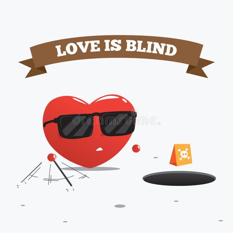 ślepa miłość również zwrócić corel ilustracji wektora royalty ilustracja
