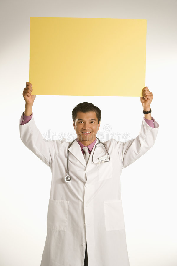 ślepej doktor znak gospodarstwa obrazy stock