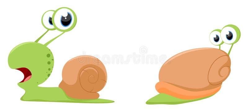 Śliczna ślimaczek kreskówka ilustracji