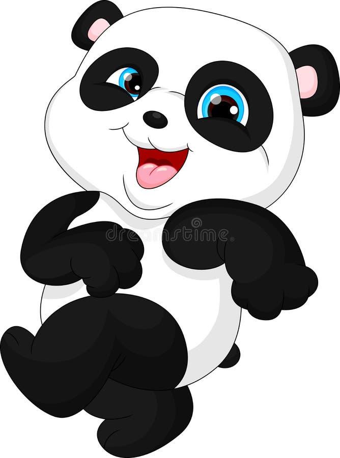 Śliczna śmieszna dziecko panda royalty ilustracja