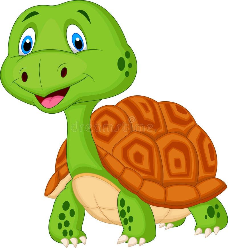 Śliczna żółw kreskówka ilustracja wektor