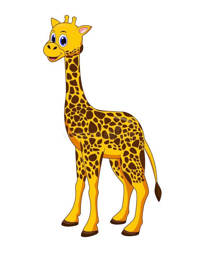 Śliczna żyrafy kreskówka royalty ilustracja