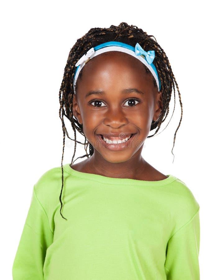 Śliczna afrykańska dziewczyna zdjęcie stock