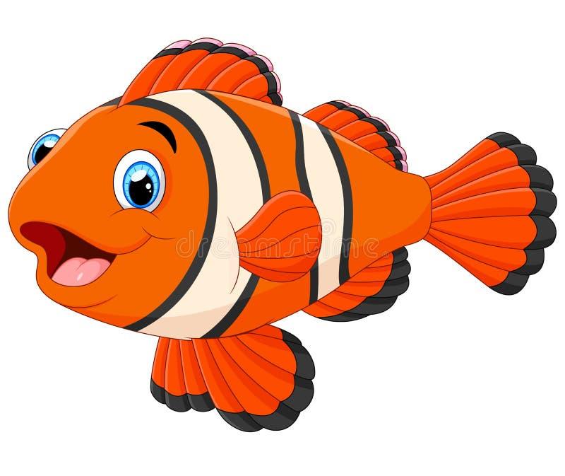 Śliczna błazen ryba kreskówka ilustracji
