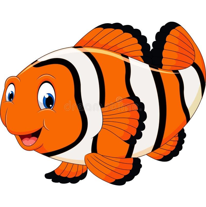 Śliczna błazen ryba kreskówka royalty ilustracja