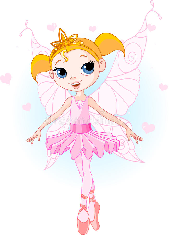 śliczna baleriny czarodziejka royalty ilustracja